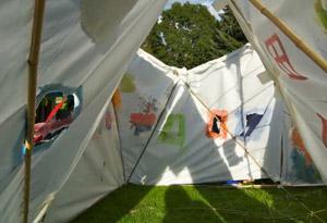 Gstaad 2010: Zelt bauen
