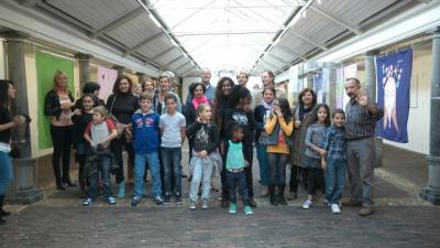 Fahnenzeremonie in Haarlem